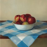 Bowl of Apples, 2014, oil on linen, 16x14in (41x35.5cm)