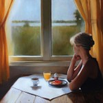 Breakfast by the Window, 2014, oil on linen, 22x30in (56x76cm)
