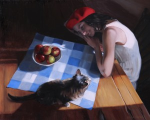 Daydreaming, 2014, oil on linen, 24x30in (61x76cm)