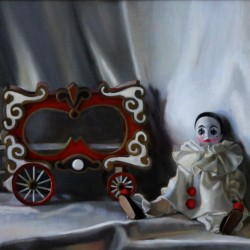 French Circus, 2010, oil on linen, 20x16in (51x41cm)