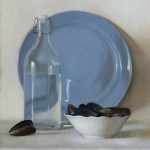 Mussels, 2015, oil on linen panel, 16.5x13.5in (42x34cm)