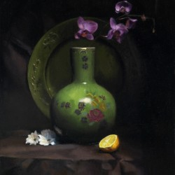 Oriental View, 2010, oil on linen, 16.5x21in (42x53cm)