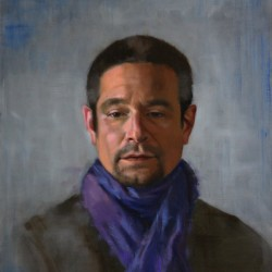 Portrait of Brian, 2012, oil on linen, 15x18in (38x46cm)