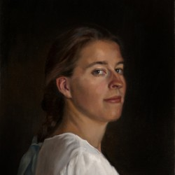 Portrait of Emily, 2011, oil on linen, 15x18in (38x46cm)