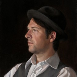 Portrait of Michael, 2011, oil on linen, 15x18in (38x46cm)