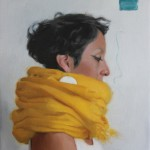 Yellow Scarf, 2016, oil on linen, 14x12in (35x30cm)