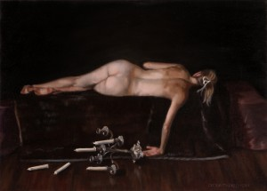 Sleeping Girl, 2011, oil on linen, 21x15in (53x38cm)