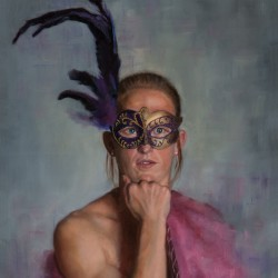 The Acrobat, 2012, oil on linen, 20x25in (51x63.5)