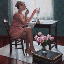 The Final Touch, 2013, oil on linen, 40x30in (102x76cm)